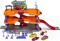 Купить Welly Игровой набор Гараж с 3 машинами и вертолетом 96050, Треки и парковки