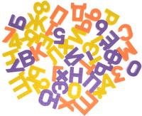 Купить Pic'nMix Набор игрушек для ванной Буквы-цифры цвет желтый оранжевый фиолетовый 48 шт, Первые игрушки