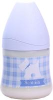 Купить Бутылка Suavinex 150мл SCOTTISH с силиконовой анатом. соской, бл.голубой, принт бел. собачка, Бутылочки