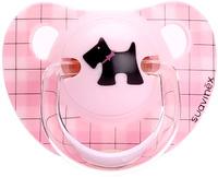 Купить Suavinex Пустышка Scottish от 6 месяцев анатомическая силиконовая цвет розовый, Пустышки