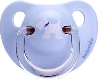 Купить Suavinex Пустышка Scottish от 6 месяцев анатомическая силиконовая цвет голубой 3800176, Пустышки