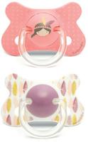 Купить Пустышка Suavinex от 18мес, 2шт. анатомическая силиконовая, розовый индеец, Пустышки