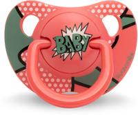 Купить Пустышка Suavinex от 18мес Baby Art анатомическая силиконовая, красно-зеленый BABY, Пустышки