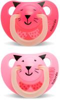 Купить Пустышка Suavinex от 6 до 18мес Night&Day 2шт. анатомическая силиконовая, светится в темноте, розовый/фуксия, Пустышки