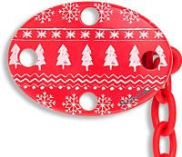 Купить Suavinex Держатель соски-пустышки Winter Collection с зажимом цвет красный, Аксессуары для пустышек