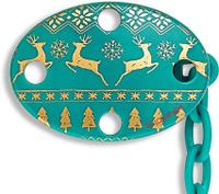 Купить Suavinex Держатель соски-пустышки Winter Collection с зажимом цвет зеленый, Аксессуары для пустышек