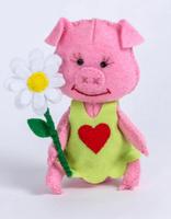 Купить Набор для изготовления текстильной игрушки Перловка Хрюша , высота 11, 5 см, Игрушки своими руками