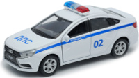 Купить Welly Машинка LADA Vesta полиция ДПС, Машинки