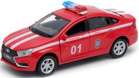 Купить Welly Машинка LADA Vesta пожарная охрана, Машинки