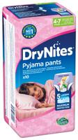 Купить Huggies Подгузники-трусики для девочек DryNites 4-7 лет 10 шт, Подгузники и пеленки