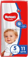 Купить Huggies Подгузники Classic 11-25 кг (размер 5) 11 шт