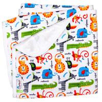 Купить GlorYes! Непромокаемая пеленка Сафари 80 х 68 см, Подгузники и пеленки
