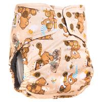 Купить GlorYes! Многоразовый подгузник Premium Медвежонок 3-18 кг + два вкладыша, Подгузники и пеленки
