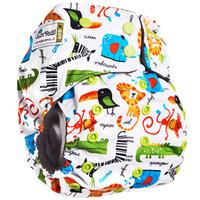 Купить GlorYes! Многоразовый подгузник Premium Сафари 3-18 кг + два вкладыша, Подгузники и пеленки