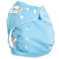 Купить GlorYes! Многоразовый подгузник Classic 3-15 кг + один вкладыш цвет голубой, Подгузники и пеленки
