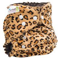 Купить GlorYes! Многоразовый подгузник Optima плюшевый Лео 3-18 кг + два вкладыша, Подгузники и пеленки