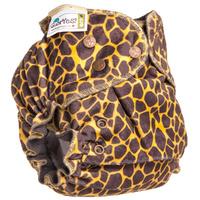 Купить GlorYes! Многоразовый подгузник Optima плюшевый Жираф 3-18 кг + два вкладыша, Подгузники и пеленки