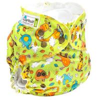 Купить GlorYes! Многоразовый подгузник Classic+ Жирафы 3-18 кг + два вкладыша, Подгузники и пеленки