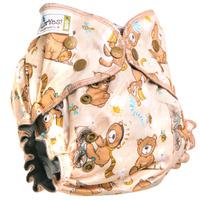 Купить GlorYes! Многоразовый подгузник Optima Медвежонок 3-18 кг + два вкладыша, Подгузники и пеленки