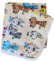 Купить GlorYes! Непромокаемая пеленка Коты на бежевом 80 х 68 см, Подгузники и пеленки