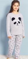 Купить Комплект домашний для девочек Vienetta's Secret Мишка, цвет: серый меланж. 706078 2064. Размер 146/152, Одежда для девочек