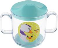 Купить Lubby Кружка-поильник Веселые животные Утка от 6 месяцев цвет бирюзовый 150 мл, Поильники