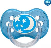 Купить Canpol Babies Пустышка круглая силиконовая Nature от 0 до 6 месяцев цвет голубой, Пустышки