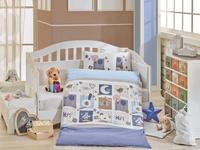 Купить Комплект детского постельного белья Hobby Home Collection Sweet Home , наволочки 40x60, цвет: синий, Постельное белье