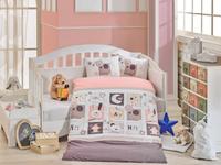 Купить Комплект детского постельного белья Hobby Home Collection Sweet Home , наволочки 40x60, цвет: розовый, Постельное белье