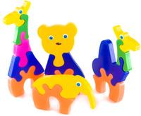 Купить Пластмастер Набор пазлов для малышей Зоопарк, Обучение и развитие