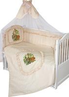 Купить Золотой Гусь Комплект белья в кроватку Аленка 7 предметов цвет бежевый 60 см x 120 см, Постельное белье