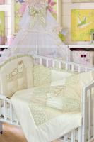 Купить Золотой Гусь Комплект белья в кроватку Кошки-мышки 7 предметов цвет бежевый 60 см x 120 см, Постельное белье