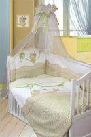 Купить Золотой Гусь Комплект белья в кроватку Улыбка 7 предметов цвет бежевый 60 см x 120 см, Постельное белье