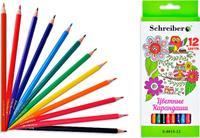 Купить Schreiber Набор карандашей Совы 12 цветов S 0015-12, Карандаши
