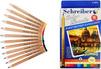 Купить Schreiber Набор карандашей Jumbo 12 цветов, Карандаши