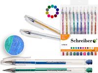 Купить Schreiber Набор гелевых ручек Металлик 10 цветов, Ручки