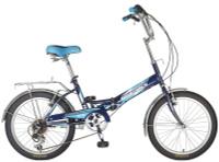 Купить Велосипед складной Novatrack FS-30 , цвет: синий, белый, 20 , Велосипеды