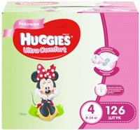 Купить Huggies Подгузники для девочек Ultra Comfort 8-14 кг (размер 4) 126 шт