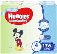 Купить Huggies Подгузники для мальчиков Ultra Comfort 8-14 кг (размер 4) 126 шт