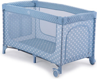 Купить Happy Baby Манеж-кровать Martin Aqua цвет голубой белый, Манежи