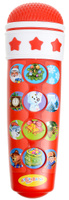 Купить Азбукварик Электронная игрушка Микрофон Караоке Новогоднее, Интерактивные игрушки