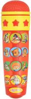 Купить Азбукварик Электронная игрушка Микрофон Караоке для малышей цвет красный, Музыкальные книжки, погремушки, пищалки