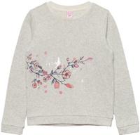 Купить Свитшот для девочки Sela, цвет: светло-серый меланж. St-613/951-8110. Размер 134, Одежда для девочек