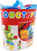 Купить KidBlock Пластиковый конструктор Кид Блок со щетинками 90 деталей PT-00783, AB Toys, Конструкторы