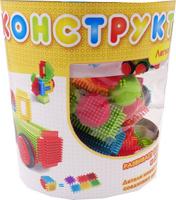Купить KidBlock Пластиковый конструктор Кид Блок со щетинками 50 деталей, AB Toys, Конструкторы