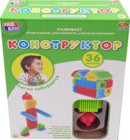 Купить KidBlock Пластиковый конструктор Кид Блок со щетинками 36 деталей PT-00788, AB Toys, Конструкторы
