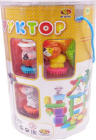 Купить KidBlock Пластиковый конструктор Кид Блок со щетинками 90 деталей PT-00795, AB Toys, Конструкторы