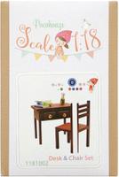 Купить Набор для изготовления миниатюры Pocohouse Стол и стул . 1181002, Игрушки своими руками