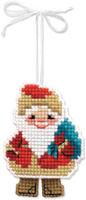 Купить Набор для изготовления подвесного украшения Riolis Новогодняя игрушка. Дедушка мороз , 6, 5 см х 8 см, Игрушки своими руками