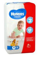 Купить Huggies Подгузники Classic 7-18 кг (размер 4) 14 шт